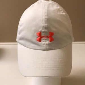 Youth under armour white baseball cap